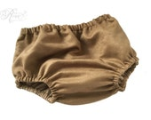 Diaper Cover - Bloomers - Photography Prop - Faux Leather Diaper Cover - Vegan Leather Diaper Cover - Nappy Cover - Tan Brown Diaper Cover