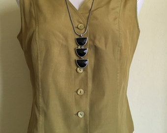 Vintage olive green vest