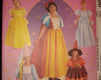McCalls Sewing Pattern Girls Size 7, 8, or 10 to make Snow White, Bella, Cinderella, Rapunzel, & Witch Uncut