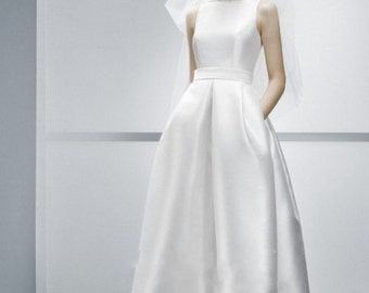 Minimal stylish wedding dress