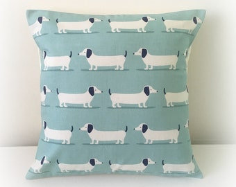 "Handmade Dachshund Sausage Dog Cushion Cover 16""  Cotton Pillow"