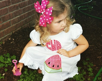 Watermelon Girls Ruffle Dress