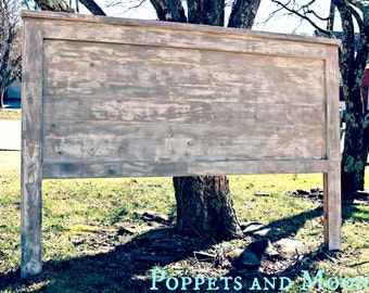 The Novec+ Beachy. Modern. Weathered.  Whitewash/ Barnwood Tripanel design on the back- Distressed + King, Queen, Full, Twin.