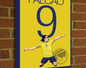 Radamel Falcao Canvas Print - Colombia Soccer Star - Pick Your Size, art, wall decor, home decor, world cup, canvas, manchester united