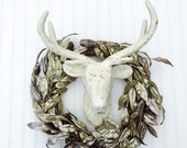 Paper Mache Deer Head - Choose Your Color - Stag Head - Antlers - Christmas Crafts