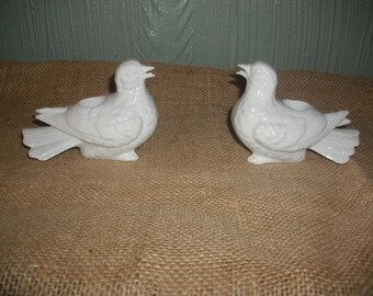 Vintage Pair of Bird Candle Holders