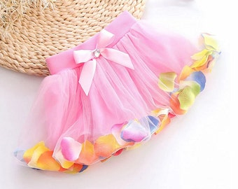 Toddler Girls Tutu Petal Skirt