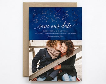 Wedding Save the Date - Constellation - Photo & Non-Photo