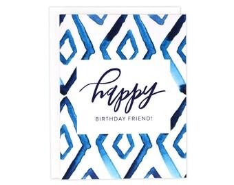 Indigo Birthday Card, Indigo Bday Card, Watercolor Bday Card, Watercolor Birthday, BFF Bday Card, My Person Bday Card, Friend Birthday, Bday