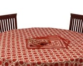 Ethnic Jaipuri Sanganeri Hand Block Print Round Table Linen Cover