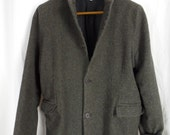 Unconstructed Shirin Guild boiled felted wool boyfriend blazer/ boxy rumpled silhouette/UK designer: size M