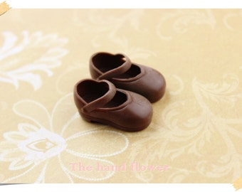 Licca New 1 pair x Accessories Brown Shoes.