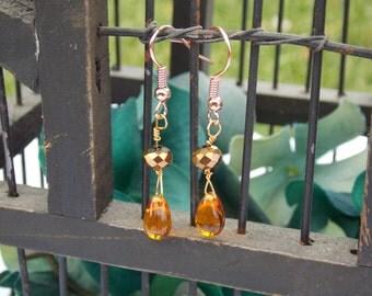Copper Raindrop Earrings