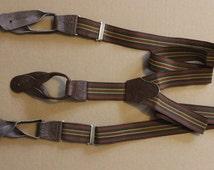 Vintage Suspenders Button Trouser Braces with  Drop Ends NOS
