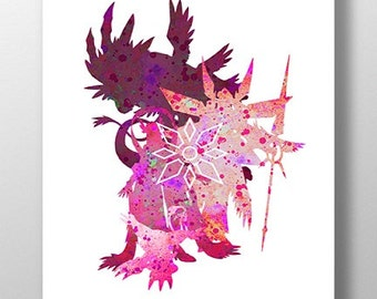 Digivolution Gatomon Crest of Light Print
