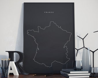 France Poster. High Quality Print. France Europe.