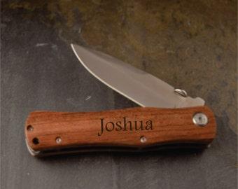 engraved folding pocket knife