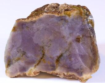 Beautiful Faced Purple Burro Creek Chalcedony Agate End Cut