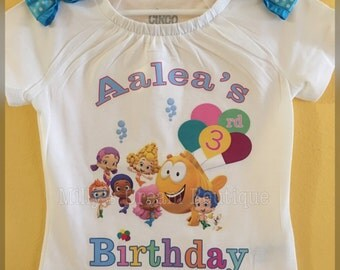 Bubble Guppies Personalized T-Shirt/ Any Name, Any Age