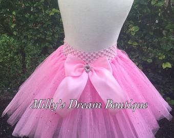 FAST SHIPPING/ Pink glitter tutu - pink tutu- baby pink tutu- tutu skirts- pink tutu skirts- birthday tutus- girls tutu