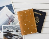 Personalized See The World Polka Dot Leather Passport Wallet   The Armstrong