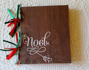 Christmas Scrapbook -- Noel -- Handmade in USA
