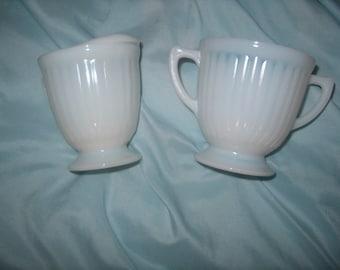 Vintage Iridescent Glass Cream & Sugar,  WAS, 25.00 - 50% = 12.50