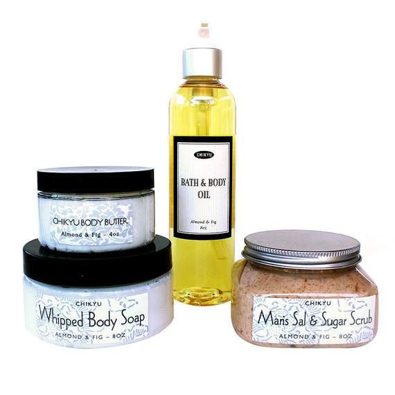 Bath Gift Set, Body Gift Set, Spa Gift Set, Luxury Bath & Body Collection - Set of 4 (Choose your Scent)