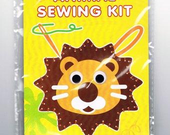 Children's Felt Lion Head Animal Sewing Kit