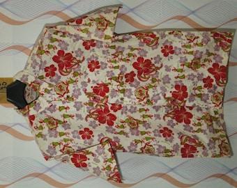 Sale 30% Vintage Alonpoint Hula Girl Ukulele Hula Girl Hibiscus Flower Pineapple Fruit Aloha Hawaiian Shirt