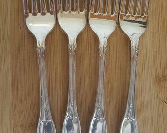"Vintage ONEIDA Silversmiths 1962 BARONET Dinner Fork 7 1/4"", Set of 4"