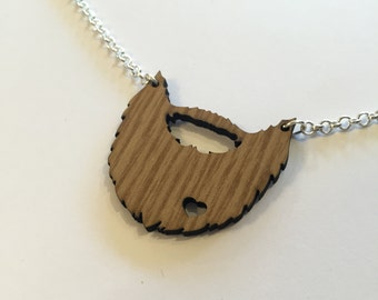 Upcycled 'beard love' necklace by AsBeAu