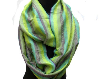 Infinity scarf/ loop scarf/ circle scarf/ tube scarf / multicolored scarf / silk scarf/  gift ideas.