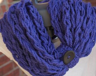 Crochet Scarf in Cobalt