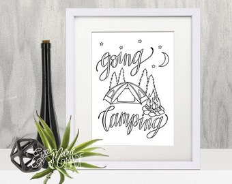Camping Nursery, Nursery Printable Art, Camping Print, Camping Decor, Camping Wall Art, Camp Print, Camping Printable Art, Adventure Print