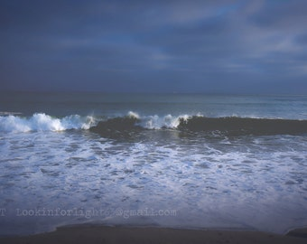 Ocean Wave Photo, California Beach Art, Dana Point Beach, Doheny Beach Photo Art, Blue Ocean Waves, Pacific Ocean Surf Photo, California Art