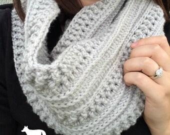 Crochet Scarf/ Infinity Scarf/ Crochet Scarf Pattern/ Crochet Pattern/ Textured Scarf/ Crochet Mega Scarf