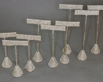 Burlap Earring Stand Set - 3 different sizes - 9pcs