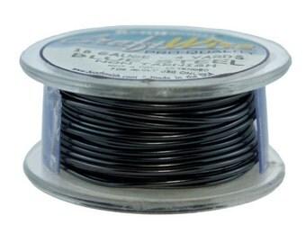 Craft Wire Tarnish Resistant Blue Steel Round Wire 18ga 4yd (WR6718BS)
