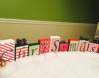 Christmas Wood Blocks