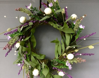 Lavender wreath #1