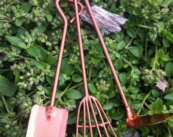 Fiddlehead miniature gardening tools