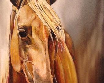 Palomino Horse Painting