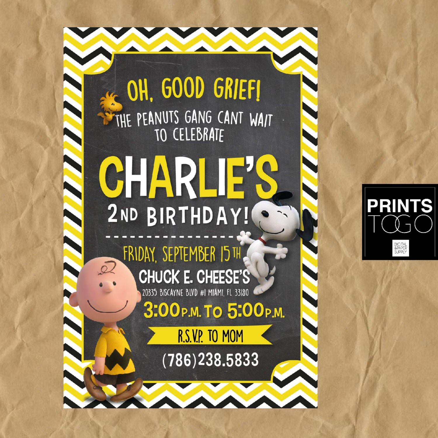 Charlie Brown Invitation Snoopy Invitation Charlie and