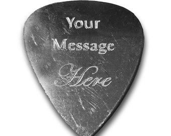 Personalized Add Your Own Engraved Text Guitar and Bass Pick Custom Customizable Gift GP - AH - CUSTOM