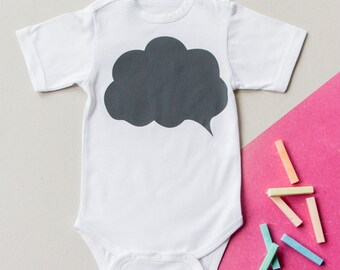 FREE SHIPPING! Write on baby bodysuit! Onesie with blackboard print/ changeable print bodysuit!
