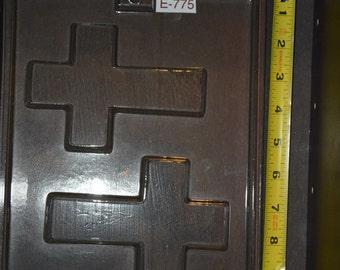 Large Plain Chocolate Cross Piece