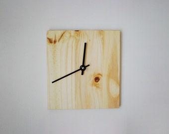 Reclaimed Wood Wall Clock- Raw