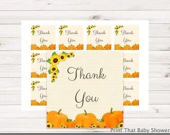 Baby Shower Favor Tag - Pumpkin Baby Shower - Printable Favour Tags - Pumpkin Baby Shower Thank You Tag - Pumpkin Favors - Pumpkin