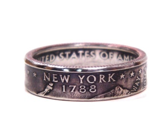 Size 8 New York State Quarter Coin Ring